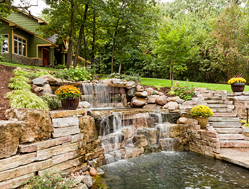 Image: Residential landscaping project developed by North Georgia Landscape Management, Inc. Duluth, GA landscaping company.
